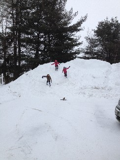 God's beautiful children playing on his beautiful snow pile!